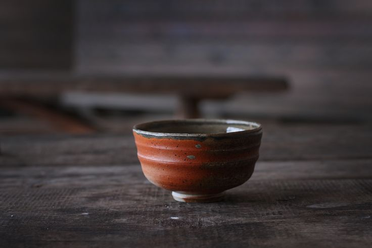 Woodfired Chawan with Somero flashing slip and celadon glaze by Jyrki Repo Ceramics