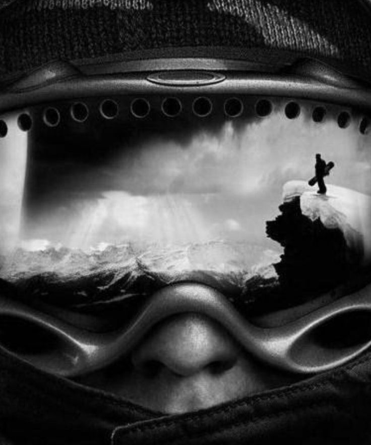 The perfect view of your snowboard mask