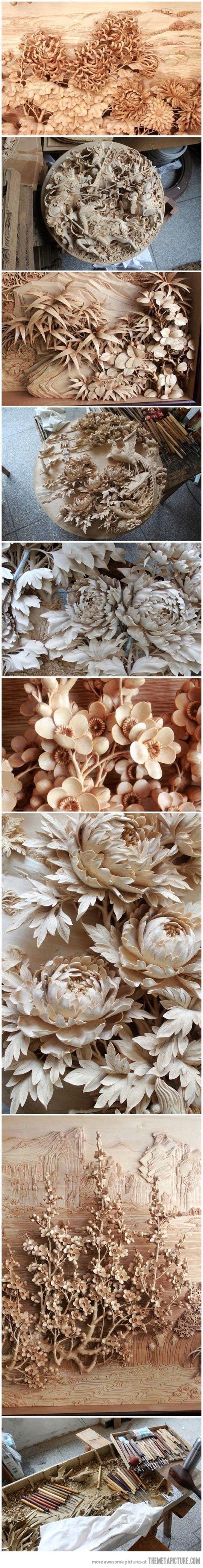 Amazing Chinese wood craft…