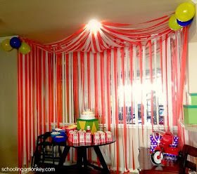 Circus Party: DIY Circus Tent ~ Schooling a Monkey