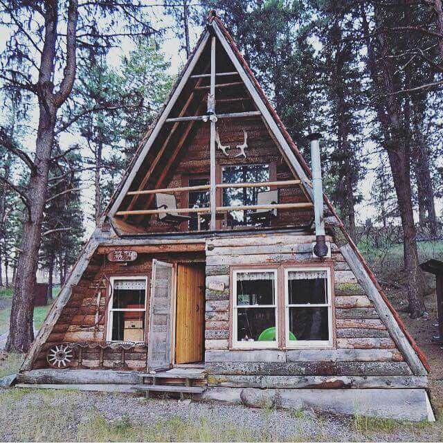 Best 25 a frame cabin ideas on pinterest a frame house for A frame log cabin