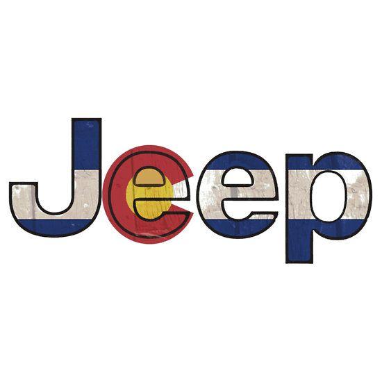 Colorado flag Jeep letters #colorado #coloradoflag #jeep #cherokee #wrangler
