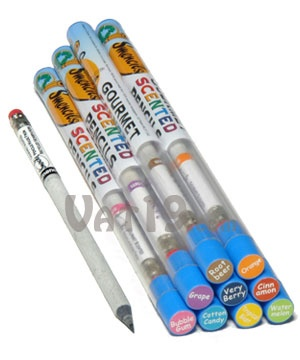 How fun!  These remind me of the popup smelly pencils I had when I was little.  They are made with 100% recycled Newspaper.  Go Green!