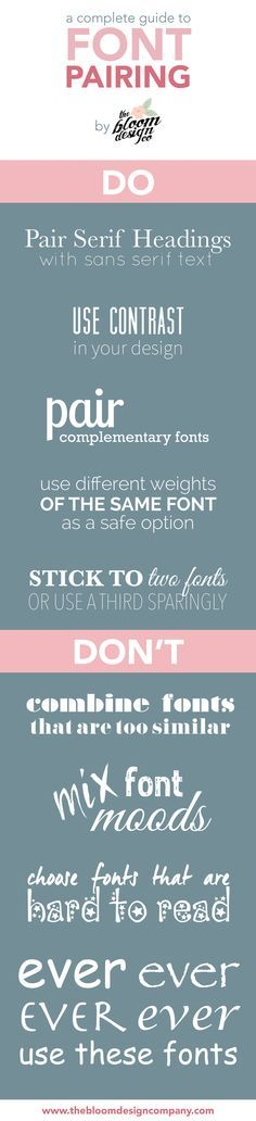 Font Pairing for Dummies | The Bloom Design Company