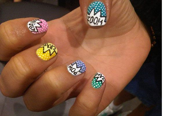 Crazy Nail Art You Can Do Yourself: Comic Books Nails, Comic Nails, Nailart, Nails Design, Crazy Nails Art, Nails Polish, Cartoon Nails, Art Nails, Comic Strips