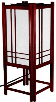 Amazon.com: Oriental Furniture Unique Novelty Lighting, 18-Inch Double Cross Japanese Style Wood and Paper Shoji Lantern Oriental Lamp, Rosewood: Home & Kitchen