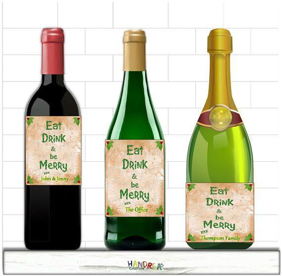 Christmas Wine Bottle Label #christmasgifts  #winelabel