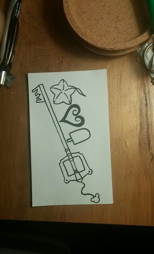 Kingdom Hearts Tattoo Design