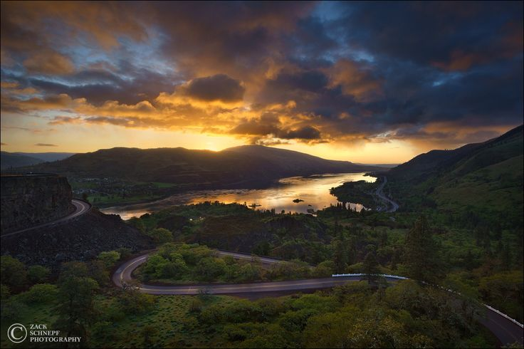 Columbia River Gorge Sunrise By Zack Schnepf On 500px