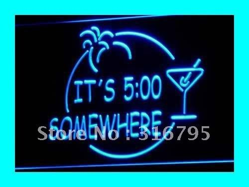 i090 b ITS 5:00 SOMEWHERE MARGARITA NEON Bar Light Sign-in Other Service Equipment from Industry & Business on Aliexpress.com
