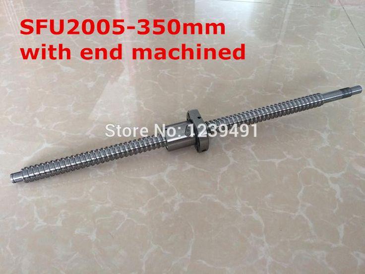 1pc SFU2005 - 350mm ballscrew + ball nut with BK15 / BF15 end machined CNC parts