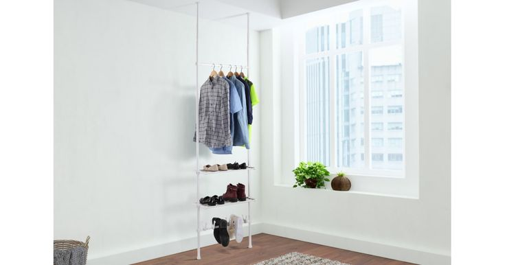 Buy Ovela Telescopic Clothes Hanger Shelf & Shoe Holder from Kogan.com. Expand your wardrobe space at a fraction of the cost. Multi storage combines clothes hanger, shelf and shoes holder Perfect for apartments and smaller living arrangements No tools required for assembly Sturdy and reliable – each layer can hold up to 3kg Adjustable telescopic poles – can fit heights from 240 to 280cm The Ovela Telescopic Clothes Hanger Shelf &....