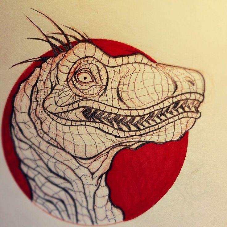 #raptor #tattoodesign #tattooflash #jurassic
