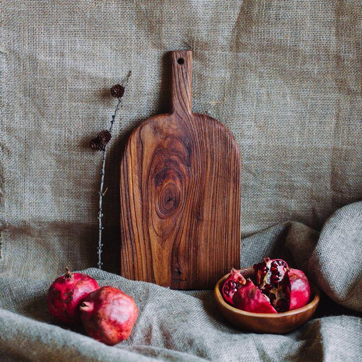 Доска для кухни ручной работы из древесины ильма
