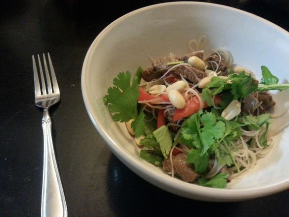 H for thai-style Hoisin beef salad