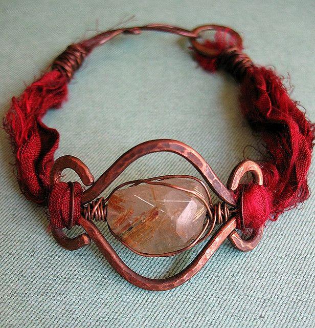 Rutilated Quartz Bracelet  | by missficklemedia.com