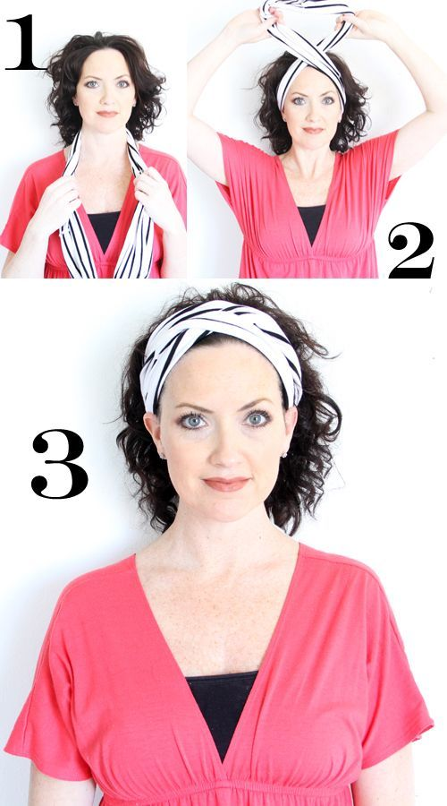 Turn old t-shirts into turban style headbands.-love the one with the rolled rosettes.