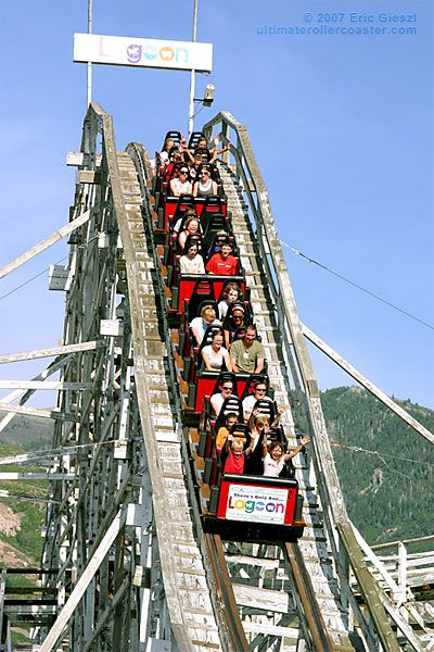 Lagoon Amusement Park - largest between Mississippi & West Coast. Privately owned & about 17 miles north of SLC, Utah