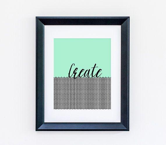 Версия для печати искусство - создать - мгновенный загрузки печать искусства - искусство печати печать - цифровой файл печать искусства - зеленый и шеврона искусство стены - офисное искусство