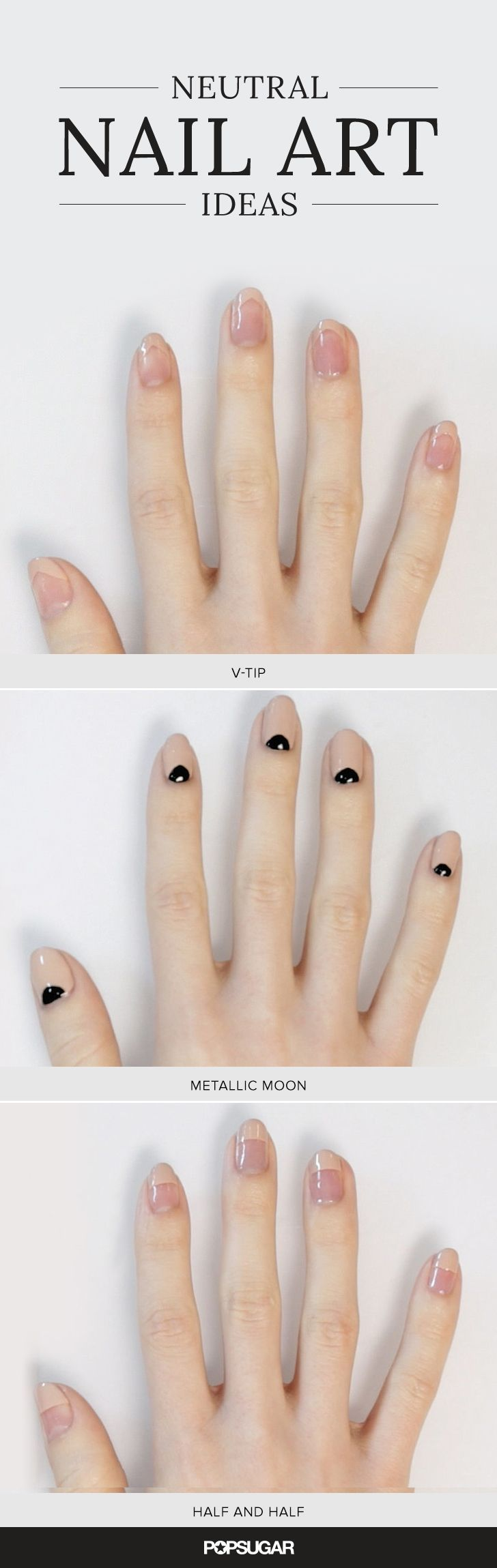 Got nude nail polish? These Neutral nail art ideas are chic yet sophisticated. Perfect for weddings and working women.