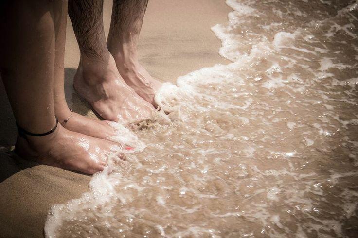 Waterside, waterwaves at beach, prewedding