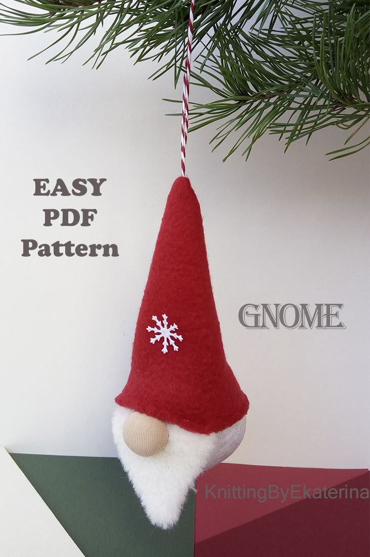 Swedish Nordic And Scandinavian Gnome Christmas Gnome Pattern