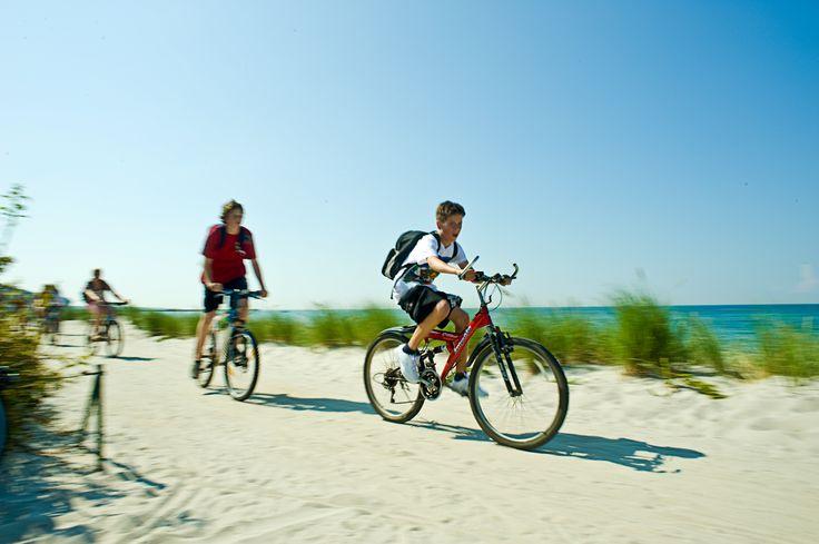 Mit dem Fahrrad an der Ostsee