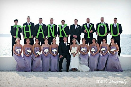Cool idea for thank you cards to the guests.