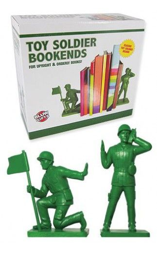 Toy Soldier Bookends Green Army Men   Military  Plastic Playsets   Bluw Ltd