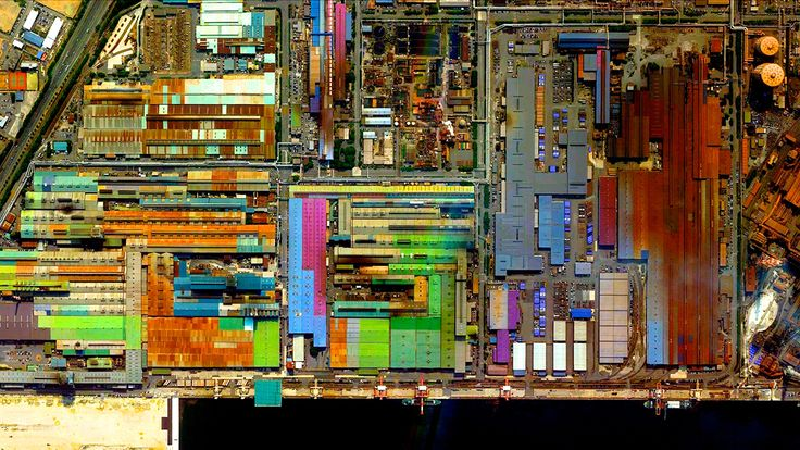 Beautiful, Troubling Photos Show Our Planet as Astronauts See It | Industrial sector,Tokai, Aichi, Japan   Benjamin Grant/DigitalGlobe  | WIRED.com