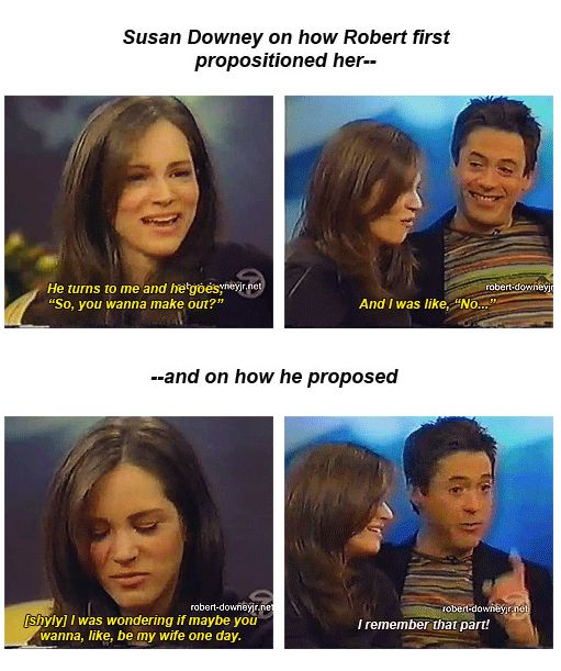 Robert and Susan Downey: proposition to proposal. << AWWW. I think I'm going to die of cuteness overload, lol.  :)