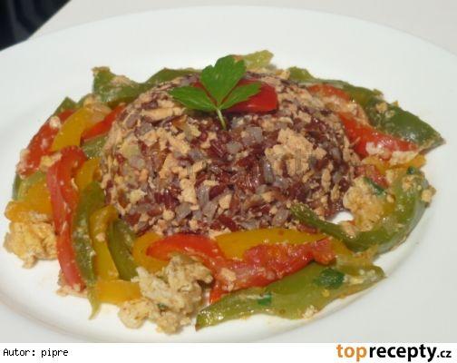 Rizoto se šmakounem a pikantní zeleninou