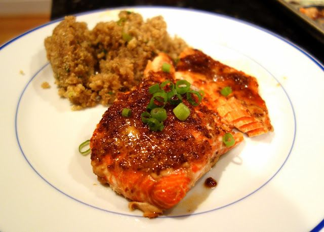 Crispy Salmon With Lentils Du Puy And Two-Mustard Creme Fraiche Recipe ...