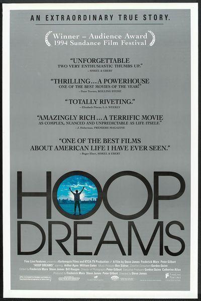 HOOP DREAMS - 1994 - original 27x40 movie poster - WILLIAM GATES - basketball