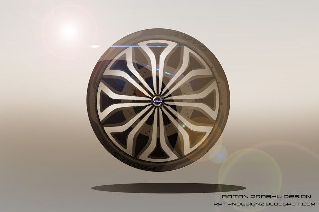 RATANDESIGNZ: Volvo Wheel Concept Design Sketch