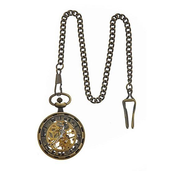 One Skeleton Mechanical Pocket Watch