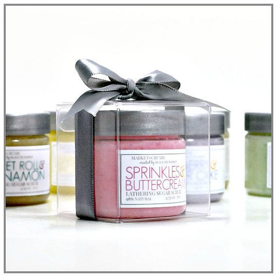 AD: SPRINKLES + BUTTERCREAM Cupcake Lathering Sugar Scrub Wedding Favors // Formulated to naturally cleanse the skin while nourishing plant oils moisturize and soften. These scrubs balance as both a soap and a sugar scrub. Non-drying and detergent free, your skin will feel clean, soft, and polished.