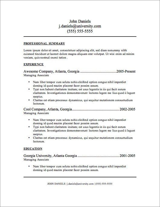 resumes templates free basic httpwwwresumecareerinforesumes - Simple Resume Templates Free