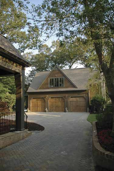 Think of the storage!  Look at the driveway!  Visually appealing.  I love detached garages.