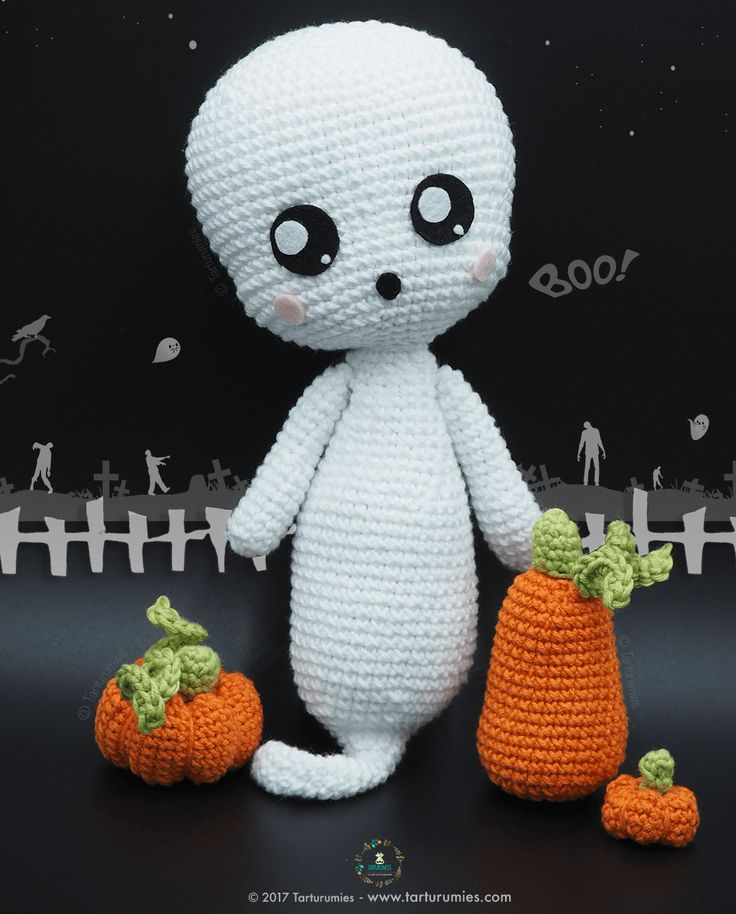 Pattern Free Amigurumi Ghost Boo! Come to know us for our facebook and website. Patrón gratis Amigurumi Fantasma Boo! Pasa a conocernos por nuestro facebook y sitio web. https://www.tarturumies.com https://www.facebook.com/Tarturumies/