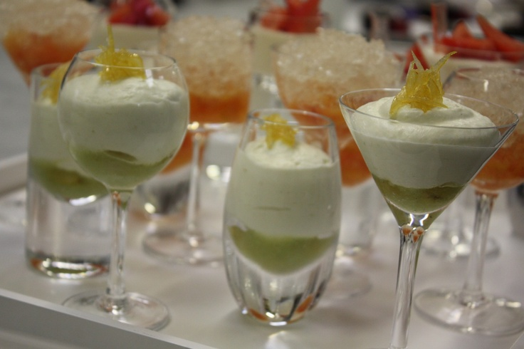 Creamy gooseberry and elderflower fool served over a sharp gooseberry puree - the perfect little pudding for summer