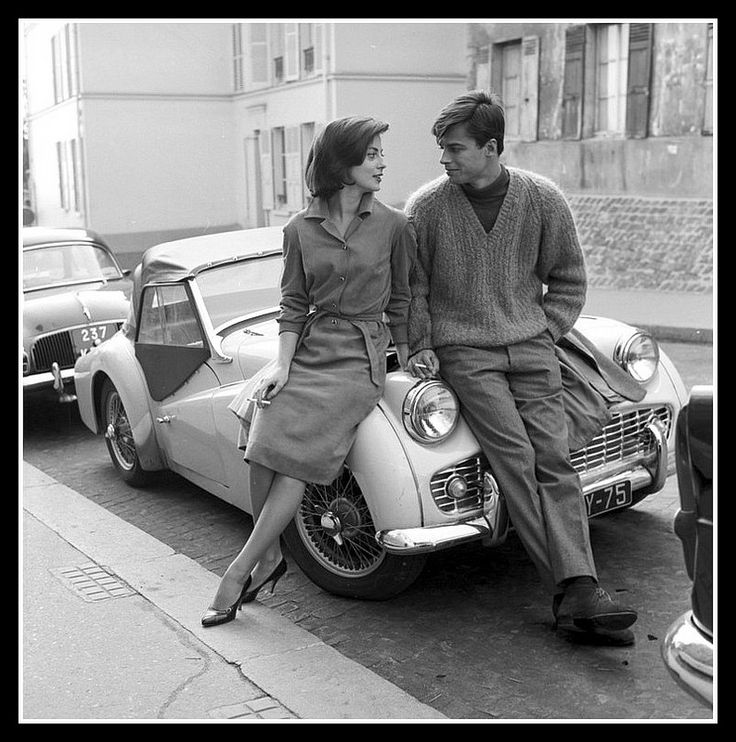 Beautiful couple, Italian actress Anna Maria Ferrero and husband, French actor Jean Sorel, photo by Angelo Frontoni, c.1962 | Flickr - Photo...