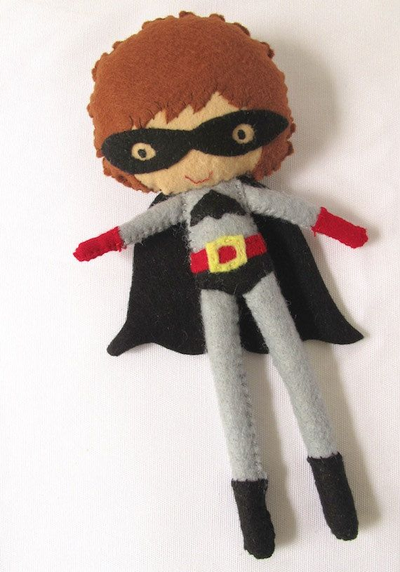 Super hero felt toy / doll for super kids by LaLaLaDesigns on Etsy