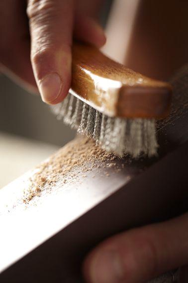 #lamaisonduchocolat #brush #chocolate #art #wood ©Caroline Faccioli