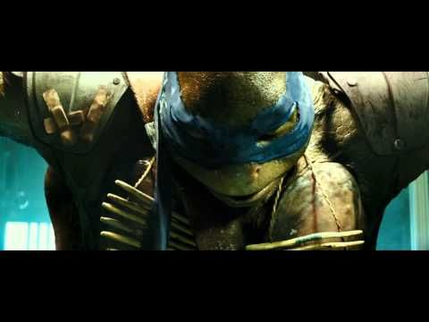 """TMNT (2014) Clip: April O'Neil saved the Turtles: Leo-""""I feel like cleaning!"""""""