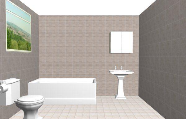 Home decor 3d visualisierung badgestaltung mit raumplaner