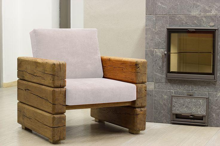 ILLEGNOVECCHIO, Poltrona Nature design  #naturedesign #poltrona #illegnovecchio #travi #legno #invecchiato #wood #rustic #interiordesign #homedesign #homedecor #cushion #ecommerce