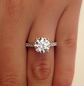 2 52 Ct Round Cut D VS1 Diamond Solitaire Engagement Ring 14k White Gold