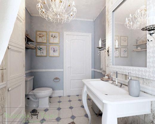 Интерьер ванной в стиле ПРОВАНС. Ванная
