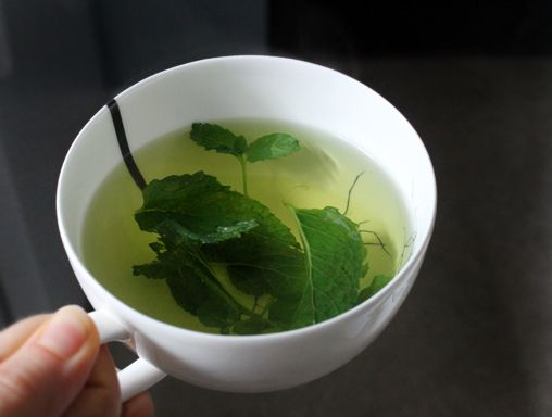 Fresh Peppermint Tea--So simple, so good. I never use any sweetener, but often add a small slice of lemon.
